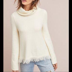 Anthropologie Aruna Cream Turtleneck Sweater